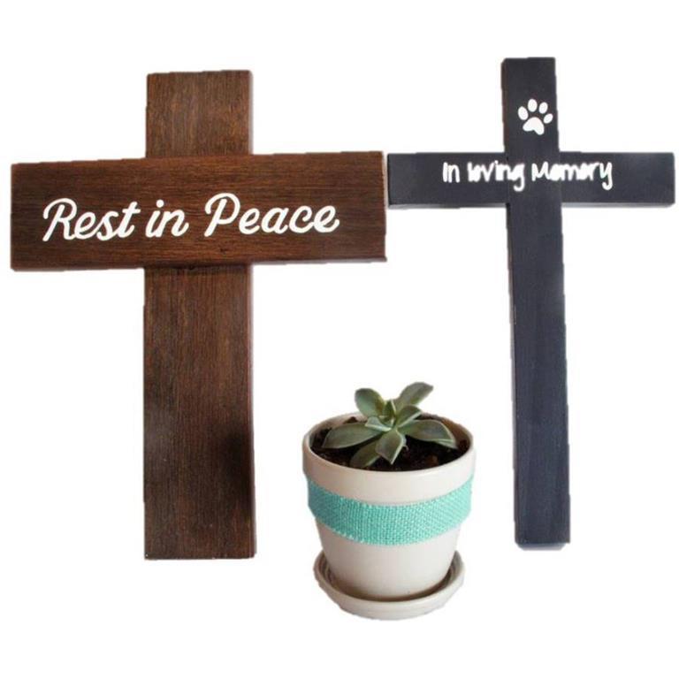 Pet Memorial Crosses for garden. Rest in Peace and In Loving Memory
