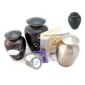 animal cremation package brass urn