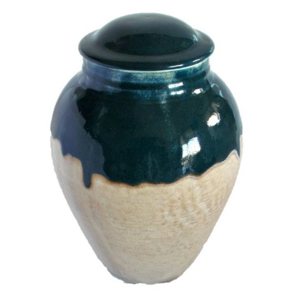 large porcelain urn two colour