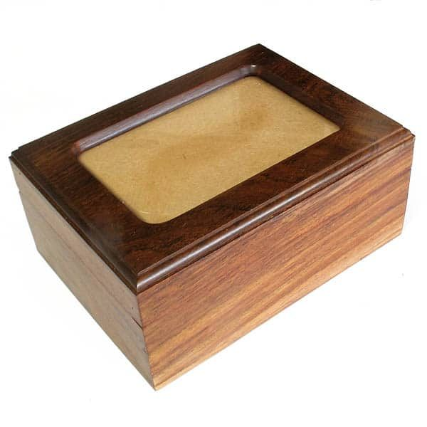 animal cremation timber photo box