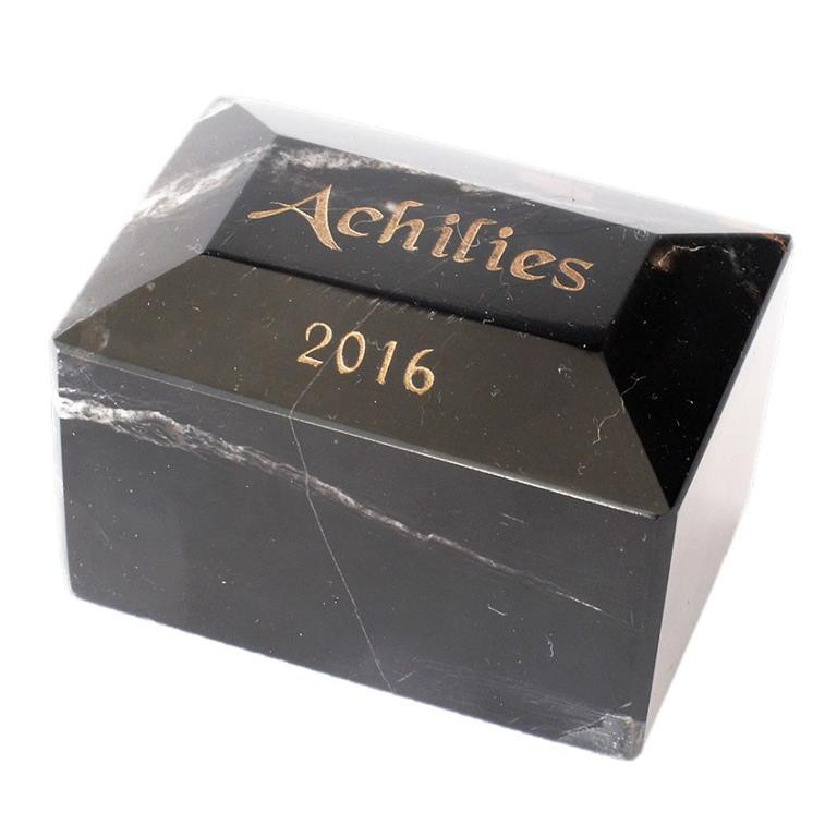 etched text on marble urn pets name and date of death