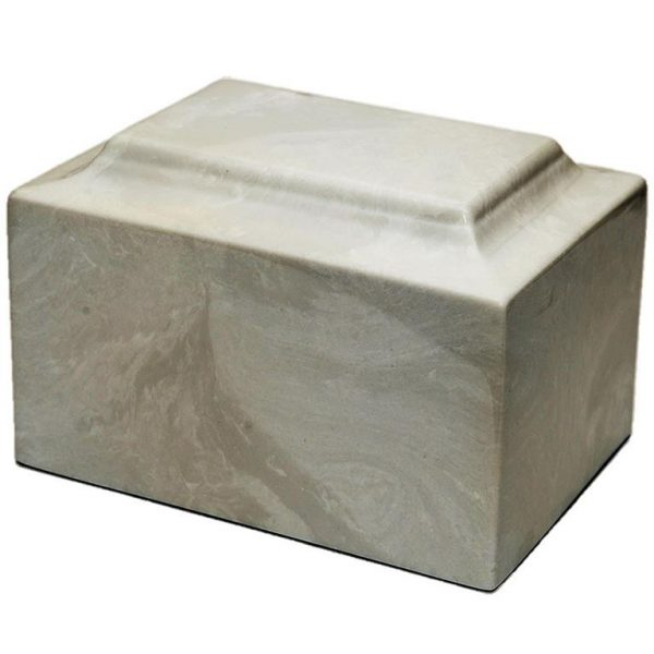 medium sized grey marble urn suitable for outdoors