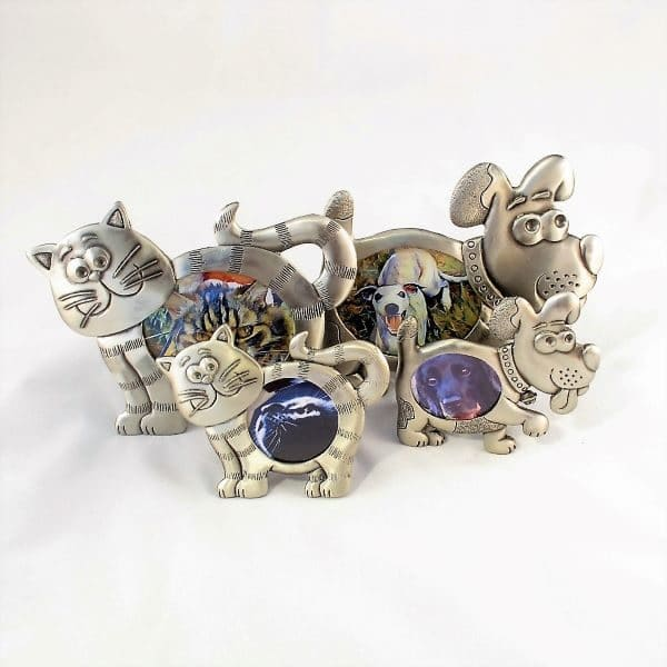 cat and dog shaped photo frames