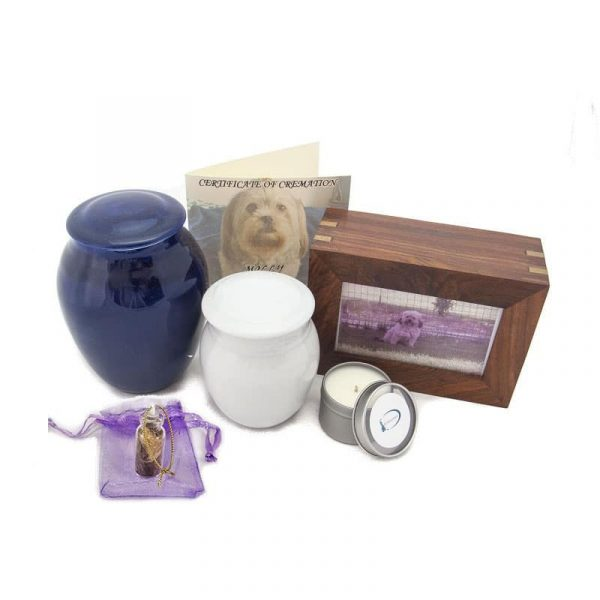animal cremation package porcelain urn
