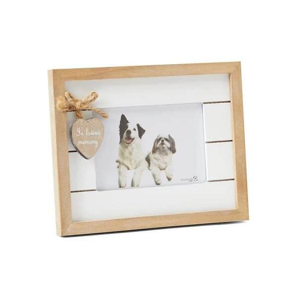 Wood Pet Memorial photo frame