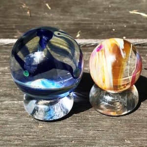 hand made glass pet memorial orb