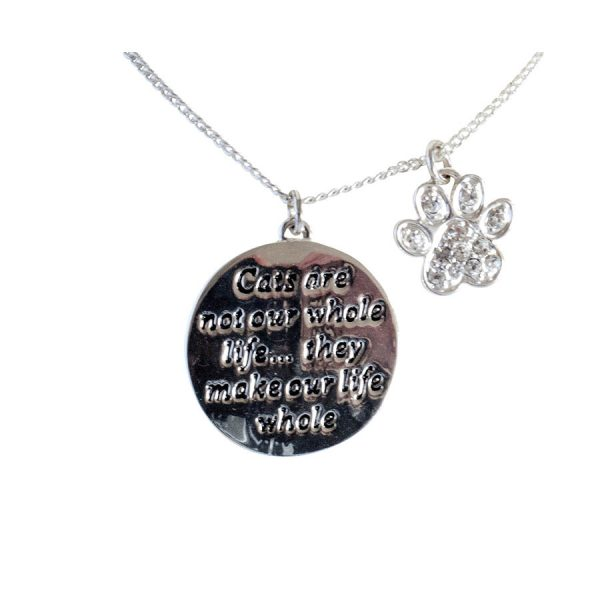 Pet memorial necklace-cats make our lives whole