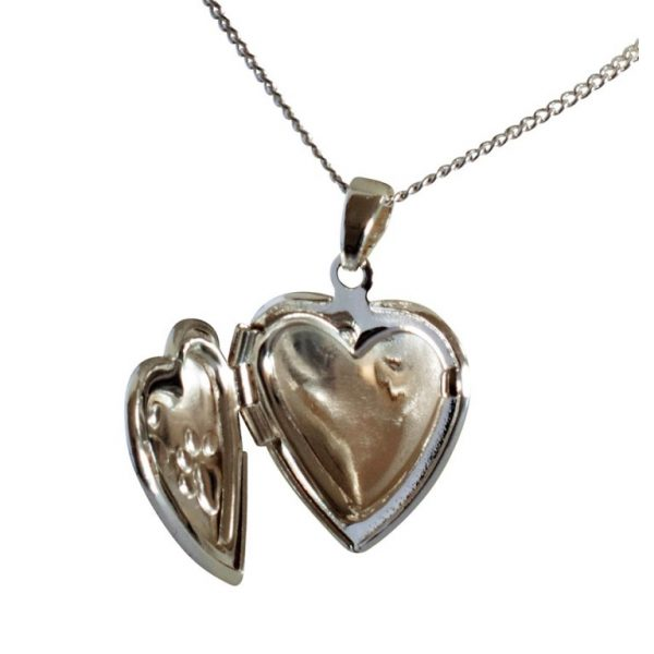 Pet memorial locket-open to show where ashes go