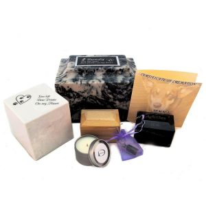 animal cremation package marble urn