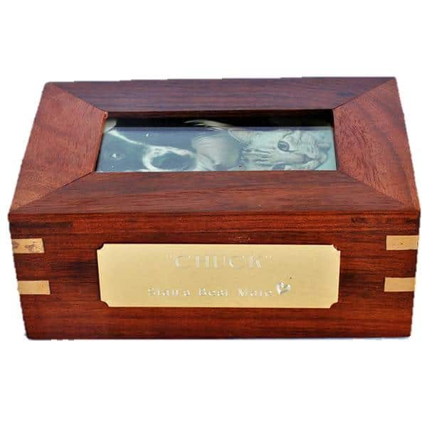 memory box with plaque