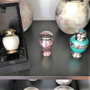 variety of keepsake pet urns