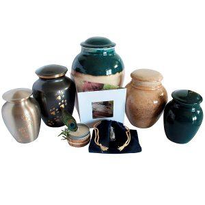 pet cremation package 4 pewter or porcelain urn