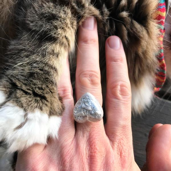cremation ashes in heart shaped ring