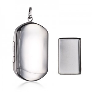 animal memorial jewelery silver pendant to hold cremation ashes