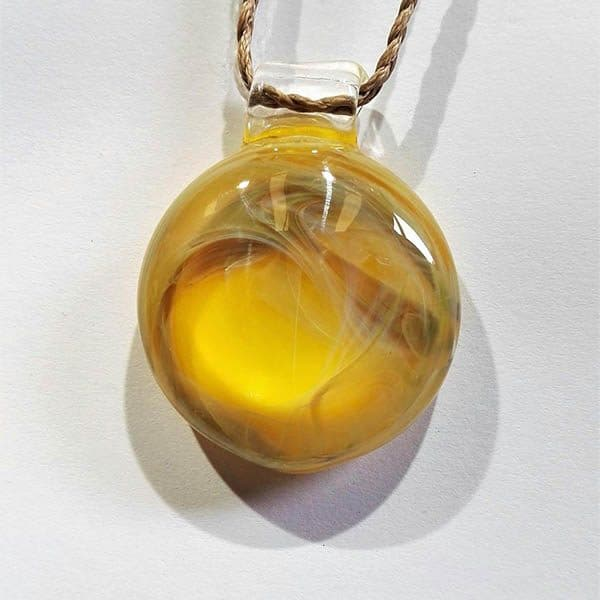 pet cremation memorial pendant yellow